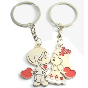 Faynci Love Forever Couple Gift With Cute Lover Kissing Couple Key Chain