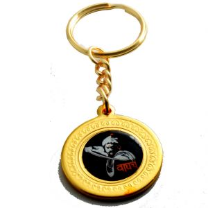 Faynci Chatrapati Shivaji Maharaj Design With Rajmudra Key Ring Key Chain (lion)