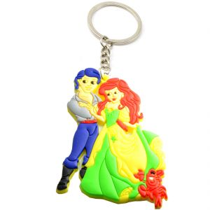 Faynci Love Couple Prince And Princess Designer Silicone Key Chain