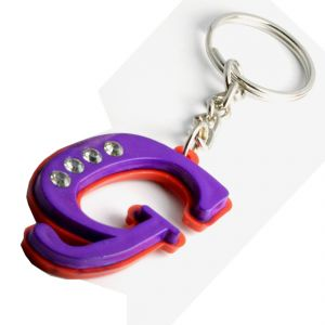 Faynci Alphabet Letter G With Attaractive Diamonds Key Chain