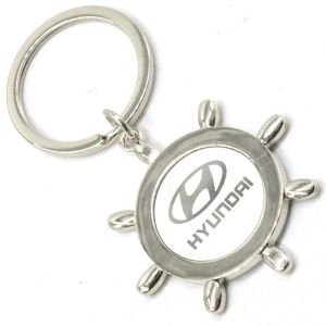 Faynci Sun Design With Hyundai Metal Logo High Quality Stainless Steel Key Ring Key Chain For Hyundai Lover