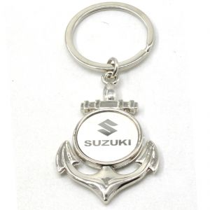 Faynci New Suzuki Metal Logo Stainless Steel Key Ring Key Chain For Suzuki Lover