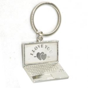Faynci I Love You With Heart High Quality Stainless Steel Laptop Key Chain For Gifting