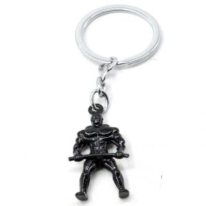 Faynci Bodybuilding Weight Lifting Keyring Charm Gift Key Chain For Jim Lover