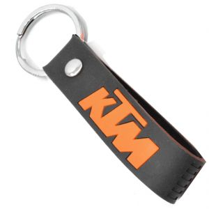 Faynci KTM Inspired Double Sided Silicon Keychain Car Keychain Collectible Black