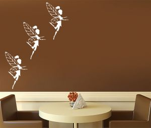 "Kayra Decor ""fairy Friends"" Reusable Wall Stencil In (16"" X 24"") Inches Plastic Sheet"