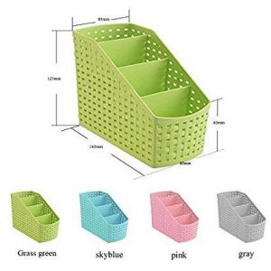 Multi Segment Hollow Basket,storage Box For Bedroom,bathroom,office (1 PC Color As Per Availability)