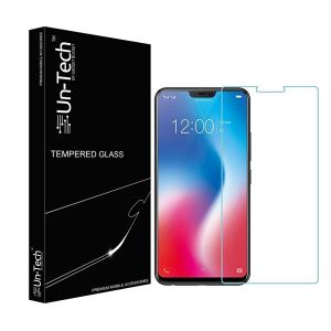 Un-tech Vivo V9 Tempered Glass, Transparent Ultra Clear Tempered Glass || Scratch Resistant With Installtion Kit