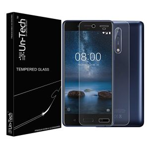 Un-tech Nokia 8 Tempered Glass Screen Protector With Installation Kit