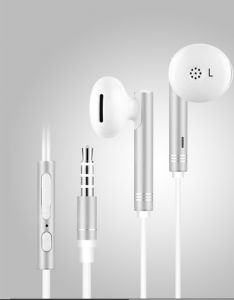 Un-tech Wired In-ear Headphone With 3.5mm Jack & Mic For All Smartphones Iphones-gh59 (white)