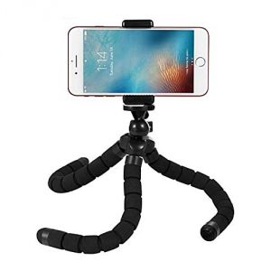 Untech Octopus Style Tripod With Universal Mobile Monopod Mount Adapter & Long Screw Mobile Holder (colors As Available)