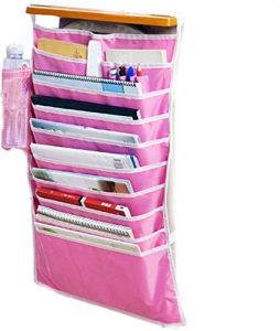 Gadgetbucket Multifunctional Adjustable Desk-side Hanging Book Organizer Bag Multicolor (only Hanging Organiser)