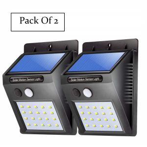 Lighting - UnTech Solar Sensor Wall Light 20 LED Pack of 2 Motion Sensor Wall Light