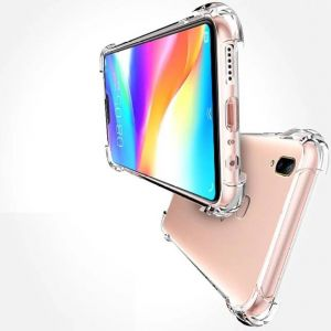 official photos d0606 6eb82 Un-Tech Vivo V9 Transparent Mobile Phone Back Cover Case with TPU Corner  Protection( Clear) Phone Cover