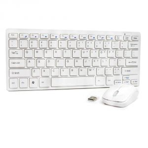 Untech Mini Slim Silent Wireless 2.4ghz Portable Keyboard & Mouse Set W/usb Bluetooth Receiver