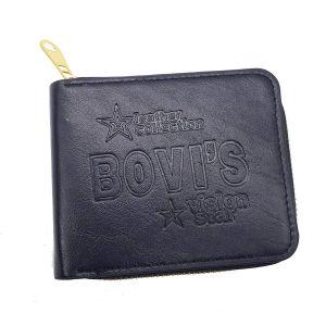 ad84e900a7 Men's Wallet Premium Stylish PU Leather Round Gold Zipper Black Men Wallet  (Black Vision Star)
