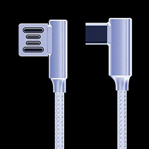 Untech Canvas Fabric Double Sided Data Cable (android White)