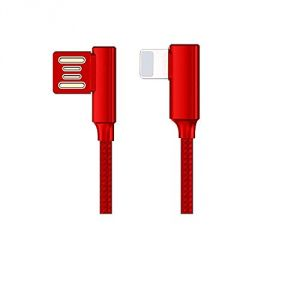 Untech Canvas Fabric Double Sided Data Cable (iphone Red)