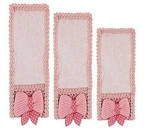 Dust Cloth Cover Set Of 3 Bow Knot Remote Control For TV Air Conditioner D2h DTH (light Pink)