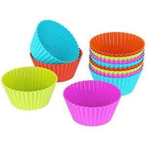 Ergode 24 Pcs Silicone Muffins Mould/Cup Cake Mould/Chocolate Mould - Mini - Single Pack