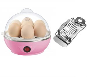Ergode Electric Egg Cooker Boiler Steamer 7 Egg Capacity With Steel Boiled Eggs Slicer