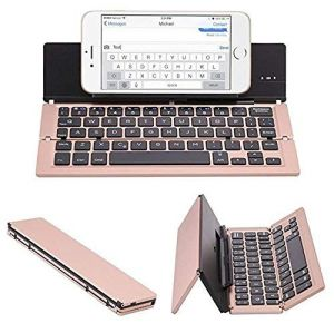Untech Foldable Wireless Bluetooth Keyboard With Kickstand F18 (rose Gold)