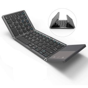 Untech Foldable Bluetooth Keyboard With Touchpad For All Devices Android Tablet Macbook Pro (black)