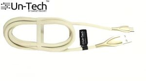 Untech Mesh Plastic Rubber Covered USB Cable Cream White For Android