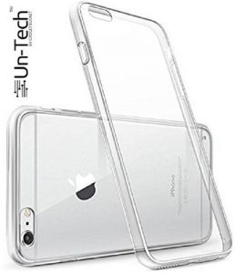 Un-tech iPhone 6 Silicon Transparent Mobile Back Cover Case With Tpu Corner Protection For Apple iPhone 6