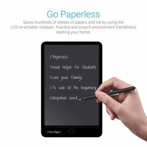 "Tablets & e book readers - Un-Tech Ruffpad, Portable 10"" Re-Writable LCD E-Pad, Paperless E-Writer with Stylus, Digital Notepad for Drawing, Playing, Handwriting (Black)"