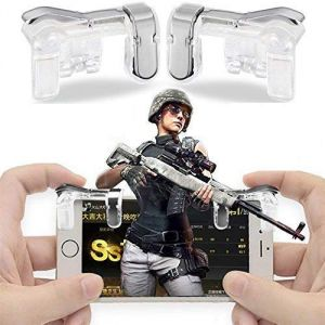 Mobile Accessories (Misc) - UnTech PUBG Mobile Phone Gamepad Controller Shooter Gaming Button Handle Trigger L1R1 Y Metal Transparent