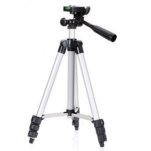 Panasonic,Vox,Fly,Canon,Xiaomi,Motorola,Manvi Mobile Phones, Tablets - UnTech Tripod For Camera Mobile with 3-Way Head Tripod for Nikon D7100 D90 D3100 DSLR  WT-3110A