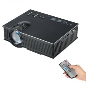 Untech Mini Pico Portable Video Projector Uc40 Full Cinema Experience Projector (black)