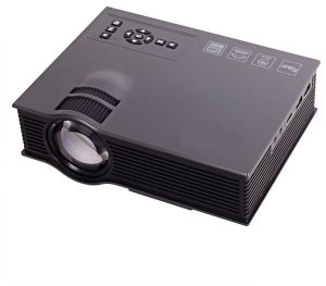 Untech Uc46 Mini WiFi Portable LED Projector With Miracast Dlna Airplay (black)