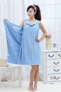 Gadgetbucket Smart Towel Bath Robe A Convenient Wearable Towel, Free Size (blue)