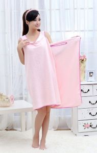 Gadgetbucket Smart Towel Bath Robe A Convenient Wearable Towel, Free Size (pink)