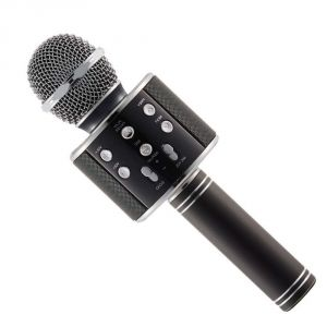 Untech Wireless Karaoke Mic-ws 858 Bluetooth Microphone Recording Condenser Handheld Microphone Stand With Bluetooth Speaker Audio Recording (color Ma