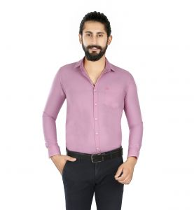 Lisova Purple Slim Fit Shirt