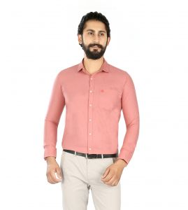 Formal Shirts (Men's) - Lisova Pink Slim Fit shirt