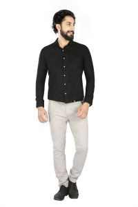 Lisova Black Slim Fit Shirt