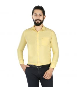 Lisova Mustard Yellow Slim Fit Shirt