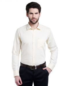 Lisova Lemon Solid Slim Fit Formal Shirt