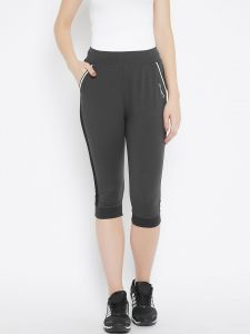 C9 Airwear Yoga -gym Charcoal Capri For Womens-original Fine Fabric (code - C1601_charcoal)