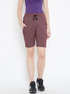 C9 Airwear Maroon Cycling, Gym Yoga Shorts For Women (code - C1704_maroon)