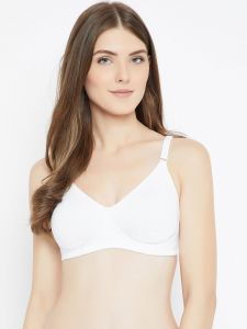 C9 Airwear Womens Solid Moon Light Basic White Bra (code - C2605_white)