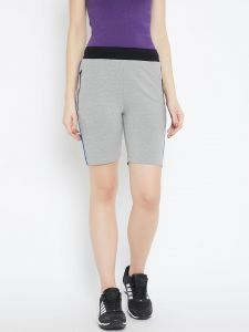 Shorts (Women's) - C9 Airwear Grey Cycling, Gym Yoga Shorts For Women (Code - M1705_Grey)