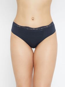 C9 Airwear Womens Solid Navy Thong Panty (code - P1051_navy)