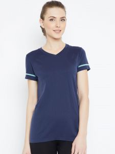 C9 Airwear Yoga - Exercise Comfortable Sports T-shirt For Women (code - P13656_navy)