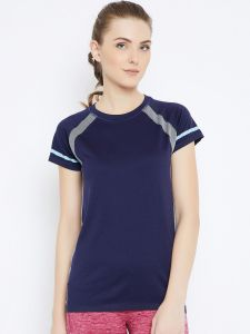C9 Airwear Navy Active T-shirt For Womens (code - P13658_navy)