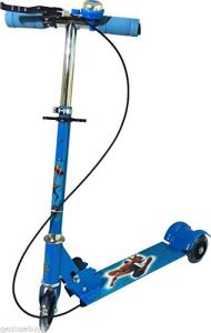 Toys, Games - Kids 3 Wheel Foldable Scooter - Blue